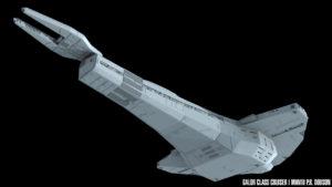 Galor class, rear underside
