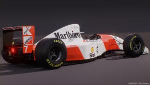 McLaren MP4/8 of Andretti, rear quarter