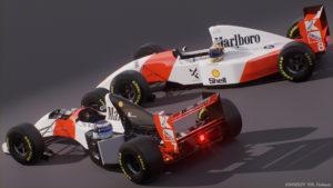 Häkkinen and Senna's cars